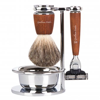 Shaving Set, 4 part, Steamed Ash