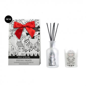Wax Lyrical - Duo Baby it's Cold Outside Reed Diffuser & Votive candle Festive Treats - 12h