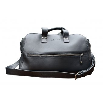Gentleman London - Weekend Black leather Travel Bag
