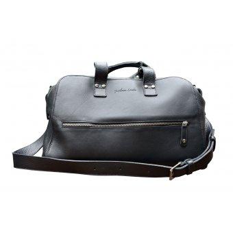 Gentleman London - Weekend Black leather Travel Bag