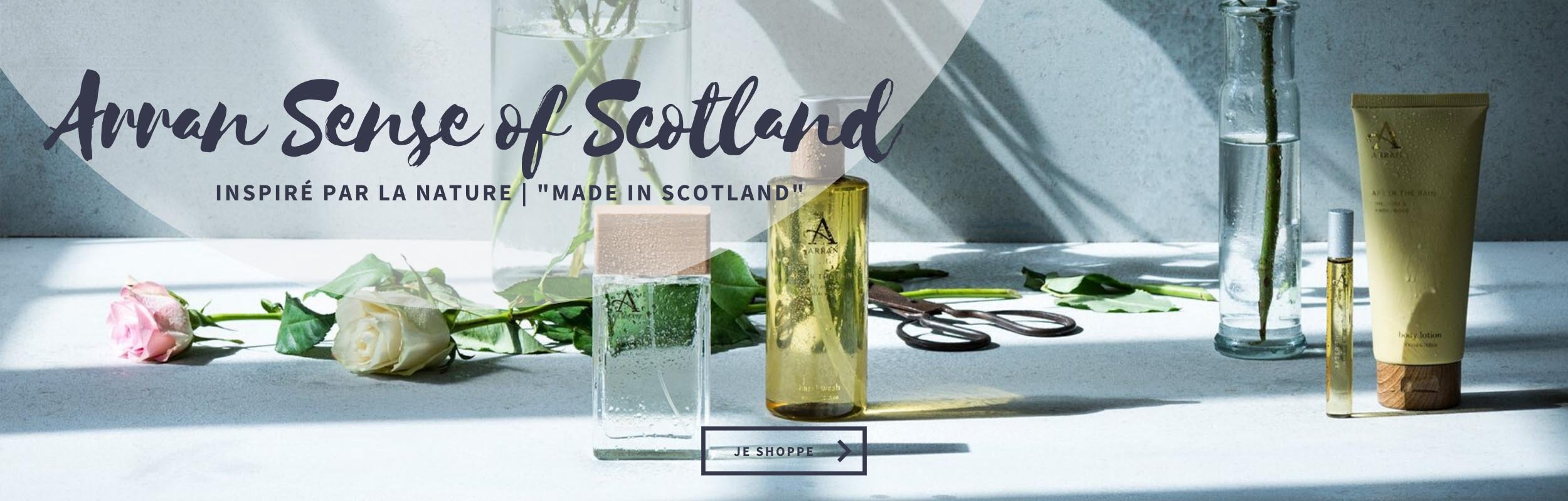 Arran Sense of Scotland sur Feel British la boutique Beauté très British